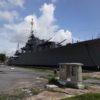 バンコク近郊のプラジュンジョムクラオ要塞で日本製駆逐艦「メクロン」を見学